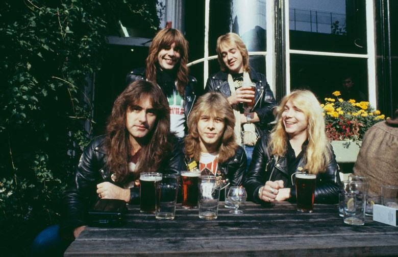 Iron Maiden in a local pub